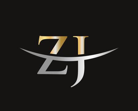 ZJ logo design. Initial ZJ letter logo design vector template