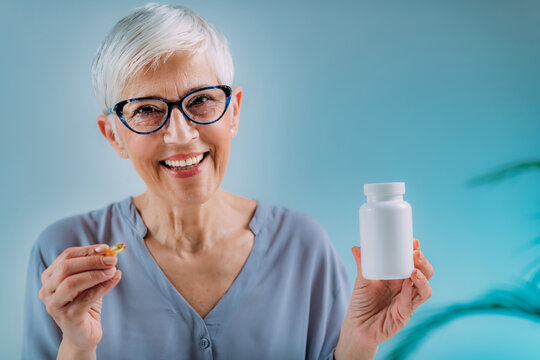 Supplements for Seniors Blank White Pill Container