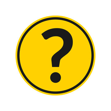 Question mark icon. FAQ circle button or sign. Vector illustration.