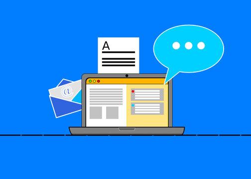 Notebook und digitale Kommunikation
