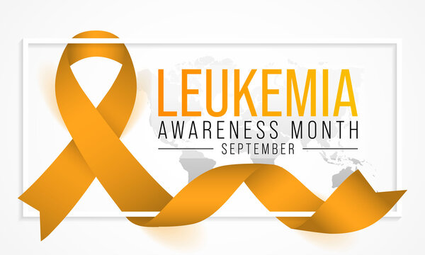 Leukemia awareness month is observed every year in September, it is cancer of the body's blood-forming tissues, including the bone marrow and the lymphatic system. Vector illustration