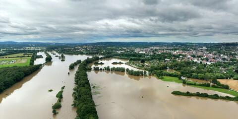 Fototapeta Ruhrhochwasser im Juli 2021 bei Schwerte obraz
