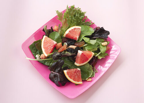 Vegetable and Orange fruit,salad mixed,