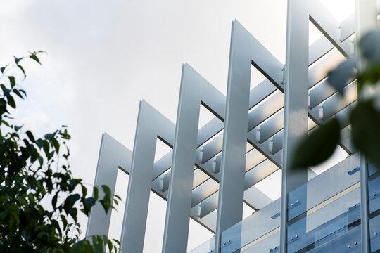 Spain, Madrid, Modern exterior of Repsol Campus headquarters