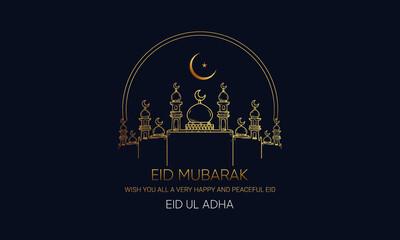 Obraz Eid ul adha mubarak, wish Modern design - fototapety do salonu