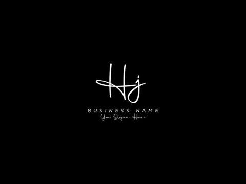 Letter HJ Logo, signature hj logo icon vector image design for business