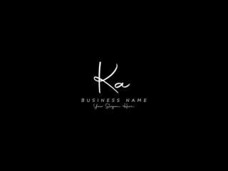 Obraz Letter KA Logo, signature ka logo icon vector image design for business - fototapety do salonu