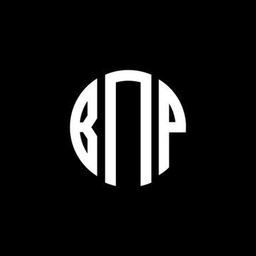 BNP letter logo design. BNP letter in circle shape. BNP Creative three letter logo. Logo with three letters. BNP circle logo. BNP letter vector design logo
