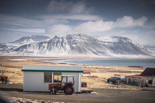 westfjords snowy envoronment, towns and mountains
