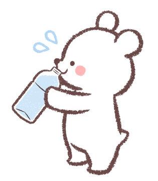 水分補給する子供シロクマ2