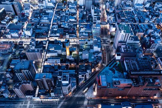 北九州の夜景 空撮