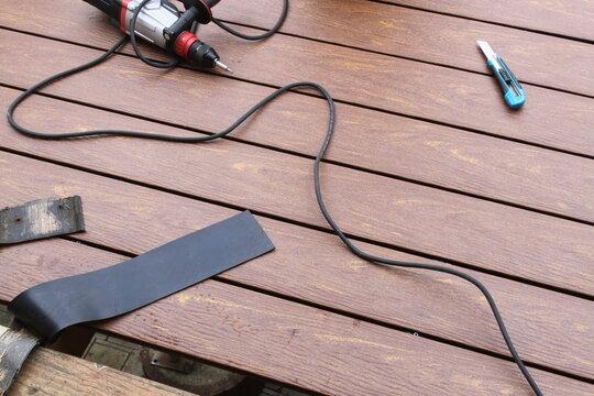 Renovierung einer Terrasse mit WPC Dielen