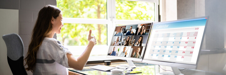 Online Training Video Conferencing Business Webinar