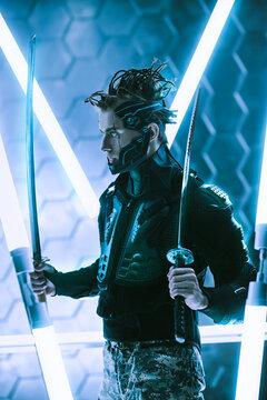 militant cyberpunk warrior
