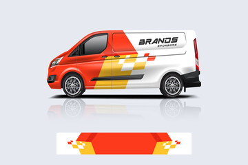 Obraz Van wrap design. Wrap, sticker and decal design for company. Vector format - eps 10 Vector - fototapety do salonu