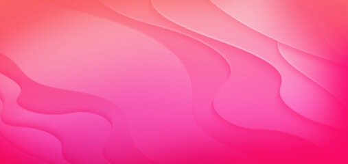 abstract luxury pink background wallpaper with paper cut shapes. Colorful carving art landscape with gradient fade colors. Minimalistic design layout for business presentations, flyers, posters.