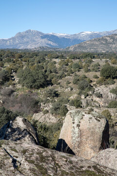 View of Guadarrama Mountain Range; Madrid