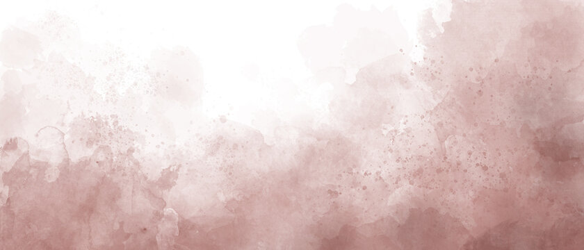 Abstract pink watercolor background painting with clouds texture