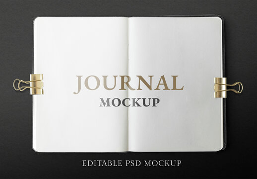 Opened Journal Pages Mockup