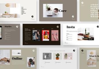 Fototapeta Brand Guide Lines Presentation Layout  obraz