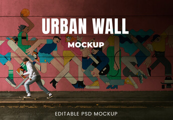 Obraz Urban Wall Mockup on the Street - fototapety do salonu