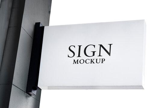 Signboard Mockup on a Wall