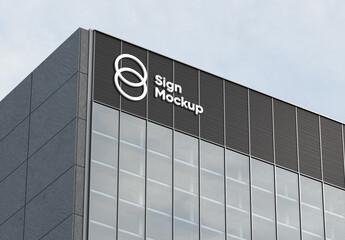 Fototapeta Building Sign Mockup obraz