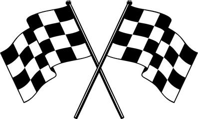 Fototapeta Nascar checkered flag racing flag finished flag svg vector t shirt design for cricut and silhouette crossed flags  obraz