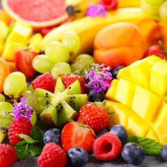 Fototapeta fresh fruits abundance obraz