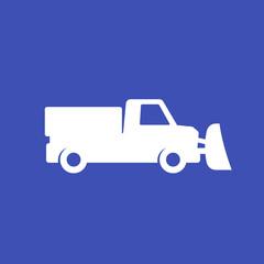 Obraz snow plow truck icon, vector - fototapety do salonu