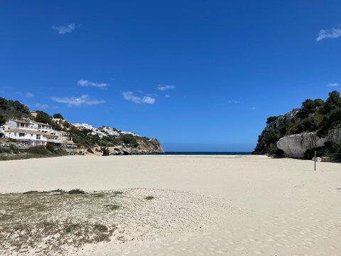 Empty beach on Mallorca