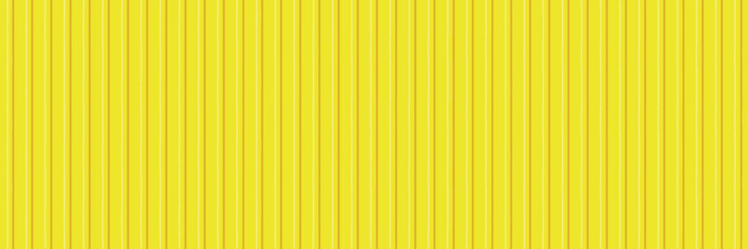 Galvanized sheet texture - Yellow colored painted Zinc wall , plate surface background pattern banner panorama. vector illustration