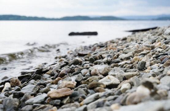 The shore of Culag beach on Loch Lomond