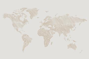 Fototapeta Mapa ziemi rysowana ręcznie obraz