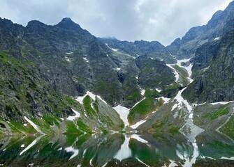 Obraz The Black Pond under Rysy. Polish Tatras, Poland - fototapety do salonu