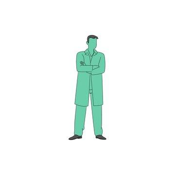 3d man with green shirt