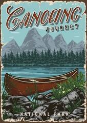 Obraz Summer adventure vintage colorful poster - fototapety do salonu