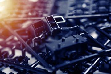 Fototapeta Black plastic model kit obraz