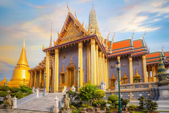 Wat Phra Kaew, the Temple of Emerald Buddha in Bangkok, Thailand