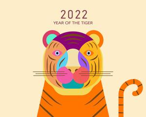 Obraz Chinese Zodiac-Tiger, Year of the Tiger cartoon image design, Cartoon Tiger image design - fototapety do salonu