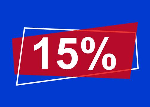 15 Prozent Preisnachlass, Rabatt
