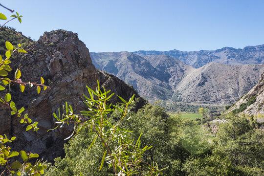 Landscape from Chile. Cajon del Maipo, Metropolitan Region, Chile, South America.