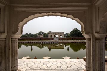 Lahore, Punjab, Pakistan. September 11, 2016. Garden of Mughal Emperors.