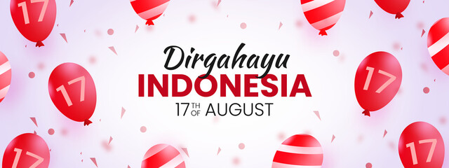 indonesia independence day 17 august banner