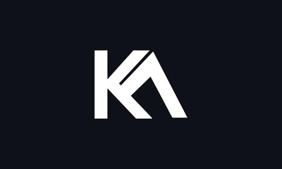 Obraz Alphabet letters Initials Monogram logo KA, AK, A and K - fototapety do salonu