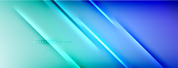 Fototapeta Abstract background - lines composition created with lights and shadows. Technology or business digital template. Trendy simple fluid color gradient abstract background with dynamic obraz