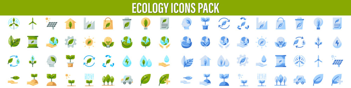 Ecology Icons, Ecology and Environment related line icon set. Nature and Renewable Energy simple symbol. Contains such as Environment, Eco, Alternative Power, Recycle, Water Drop and more