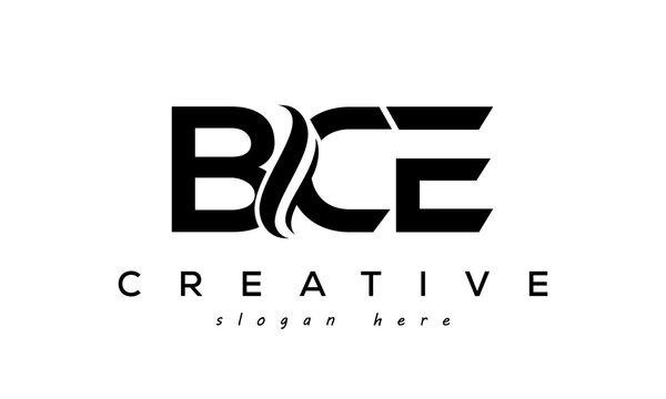 Letter BCE creative logo design vector
