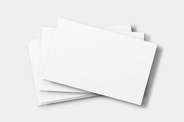 Obraz Blank business card mockup vector in white tone - fototapety do salonu