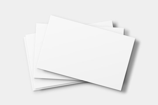 Blank business card mockup vector in white tone